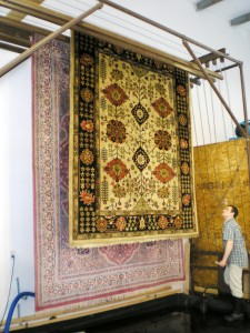 tower rug drying