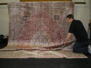 A Fine Silk Area Rug