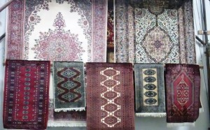 Hang Drying Hand Knotted Rugs