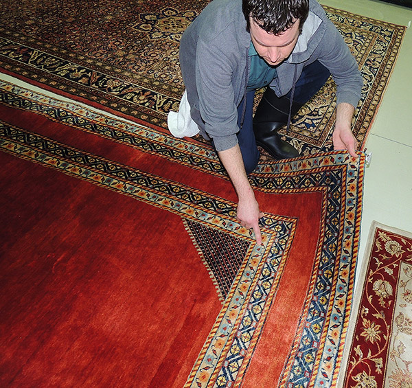 Pre-Rug Cleaning Inspection